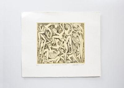 Referencia: G-25 - Titulo: La danza y la música - Año: 1989 - Dimensiones: 46 X 56 cms. - Técnica: Aguafuerte