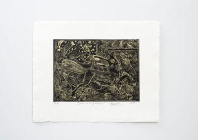 Referencia: G-30 - Titulo: Zorros en el gallinero - Año: 1989 - Dimensiones: 42 X 50 cms. - Técnica: Aguafuerte