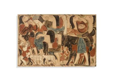 Referencia: T-004 - Titulo: Exodo - Año: 1965 - Dimensiones: 49,5 x 74 cms - Técnica: Pintado