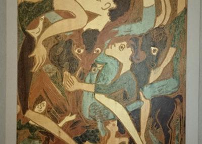 Referencia: T-076 - Titulo: Hombre Indolente - Año: 1982 - Dimensiones: 49,5 x 37,5 cms - Técnica: Pintado - Propiedad: JCCM